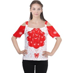 Abstract Background Balloon Women s Cutout Shoulder Tee