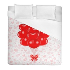 Abstract Background Balloon Duvet Cover (full/ Double Size)