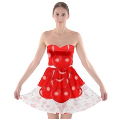 Abstract Background Balloon Strapless Bra Top Dress