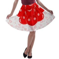 Abstract Background Balloon A Line Skater Skirt