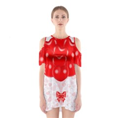 Abstract Background Balloon Shoulder Cutout One Piece
