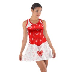 Abstract Background Balloon Cotton Racerback Dress