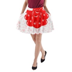 Abstract Background Balloon A Line Pocket Skirt