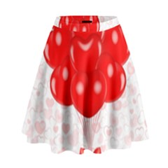 Abstract Background Balloon High Waist Skirt