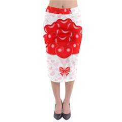 Abstract Background Balloon Midi Pencil Skirt