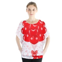 Abstract Background Balloon Blouse