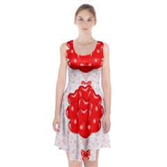 Abstract Background Balloon Racerback Midi Dress
