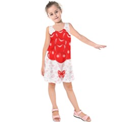 Abstract Background Balloon Kids  Sleeveless Dress