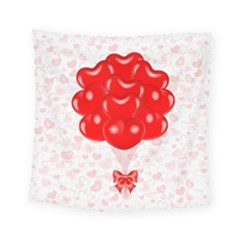 Abstract Background Balloon Square Tapestry (small)
