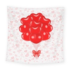 Abstract Background Balloon Square Tapestry (large)