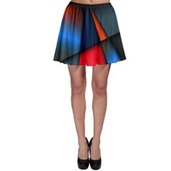 3d And Abstract Skater Skirt