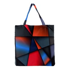 3d And Abstract Grocery Tote Bag