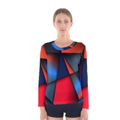 3d And Abstract Women s Long Sleeve Tee