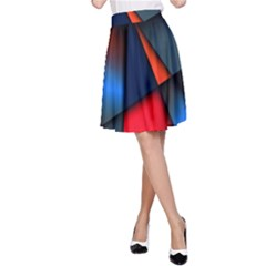 3d And Abstract A Line Skirt