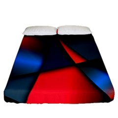 3d And Abstract Fitted Sheet (queen Size)