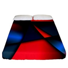 3d And Abstract Fitted Sheet (king Size)