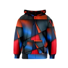 3d And Abstract Kids  Zipper Hoodie