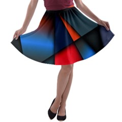 3d And Abstract A-line Skater Skirt