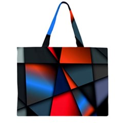 3d And Abstract Large Tote Bag