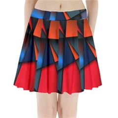 3d And Abstract Pleated Mini Skirt
