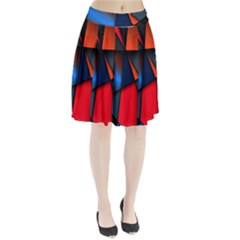 3d And Abstract Pleated Skirt