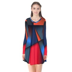 3d And Abstract Flare Dress
