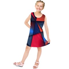 3d And Abstract Kids  Tunic Dress