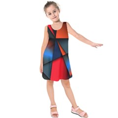 3d And Abstract Kids  Sleeveless Dress