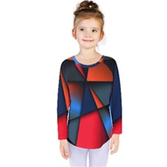 3d And Abstract Kids  Long Sleeve Tee