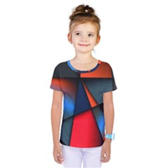 3d And Abstract Kids  One Piece Tee