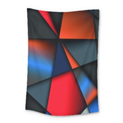3d And Abstract Small Tapestry