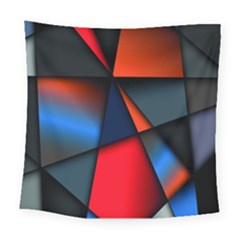 3d And Abstract Square Tapestry (large)