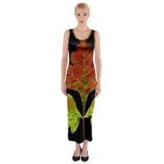 Autumn Beauty Fitted Maxi Dress
