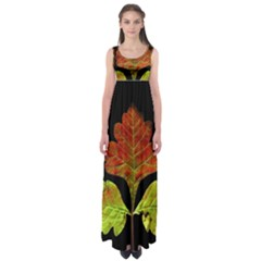 Autumn Beauty Empire Waist Maxi Dress