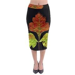 Autumn Beauty Midi Pencil Skirt