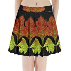 Autumn Beauty Pleated Mini Skirt
