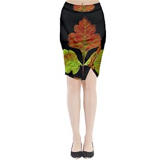 Autumn Beauty Midi Wrap Pencil Skirt