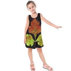 Autumn Beauty Kids  Sleeveless Dress