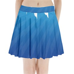 Clouds Blue Sky Pleated Mini Skirt