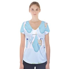 Baby Boy Clothes Line Short Sleeve Front Detail Top