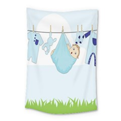 Baby Boy Clothes Line Small Tapestry