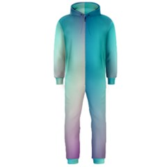 Background Blurry Template Pattern Hooded Jumpsuit (Men)