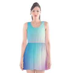 Background Blurry Template Pattern Scoop Neck Skater Dress