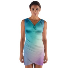 Background Blurry Template Pattern Wrap Front Bodycon Dress