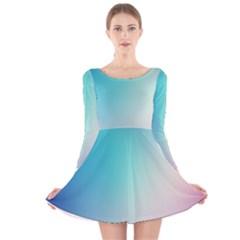Background Blurry Template Pattern Long Sleeve Velvet Skater Dress