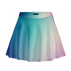 Background Blurry Template Pattern Mini Flare Skirt