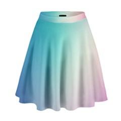 Background Blurry Template Pattern High Waist Skirt