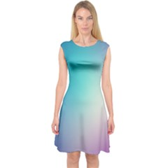 Background Blurry Template Pattern Capsleeve Midi Dress