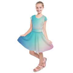 Background Blurry Template Pattern Kids  Short Sleeve Dress