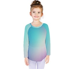 Background Blurry Template Pattern Kids  Long Sleeve Tee